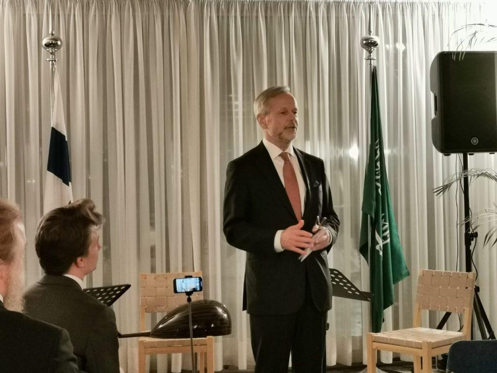 Finland Ambassador to Saudi Arabia.