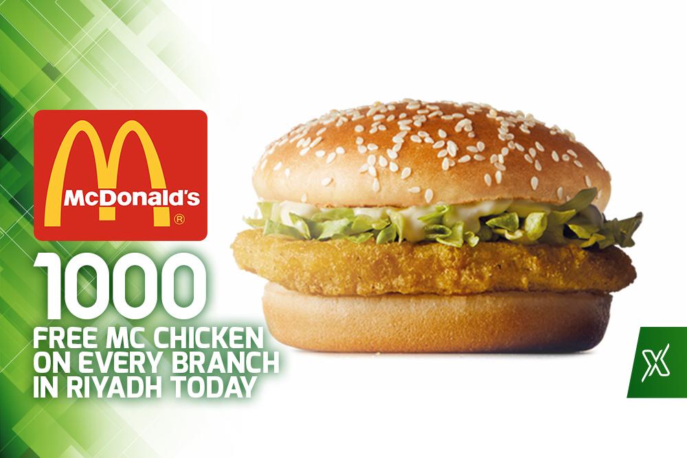 1000 Free McChicken