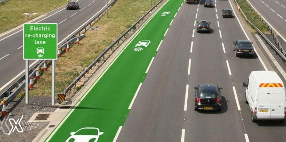 EV Transport charging lane