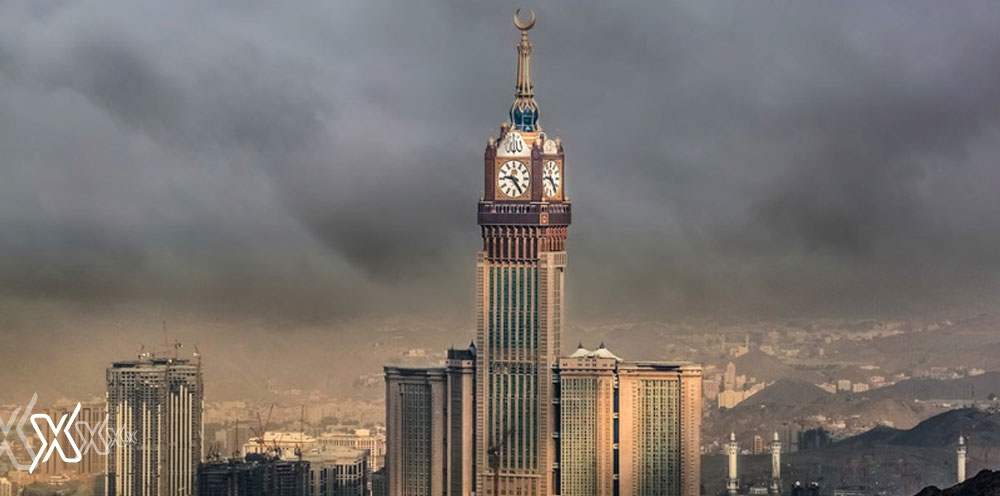 artifical rainfall Makkah Tower