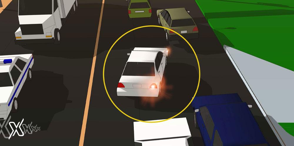traffic lane fine
