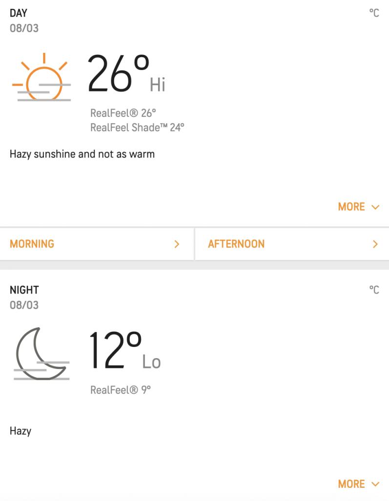 March weekly weather - Hazy Sunshine days