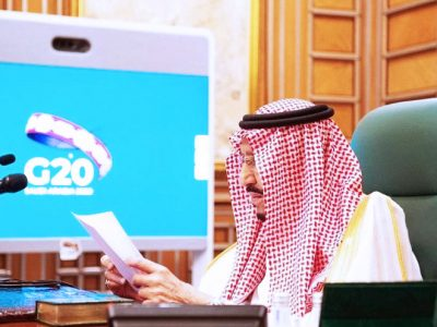 King Salman urged the world to respond to the human crises causes by Covid-19