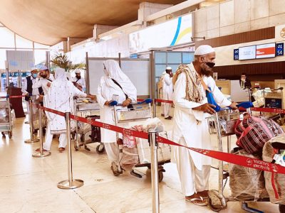Pakistani and Bangladeshi Pilgrims returned to their countries