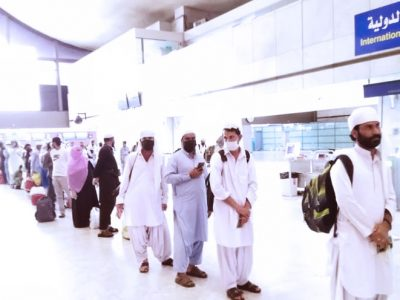 Second Flight of Saudi Airlines carrying 226 Pakistani Umrah Pilgrims left to Multan from Jeddah