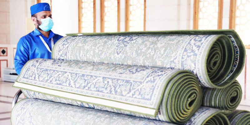 7000 carpets will be refurnished in Prophet's Mosque