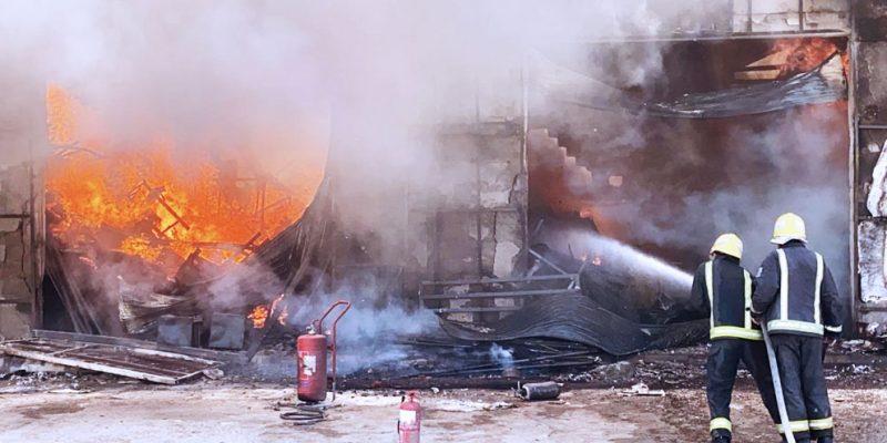 Fire in Janadriyah area of Riyadh_