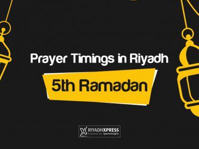 Prayer Timings 5th Ramadan