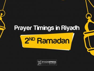 Prayer Timings 2nd Ramadan