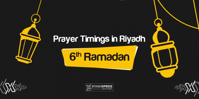 Prayer Timings 6th Ramadan